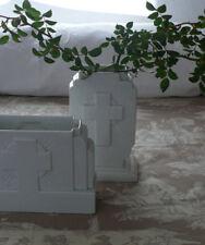 antike Vase, Lunévile, Kirche, weiße Keramik, Frankreich, SELTEN!