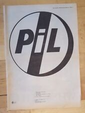PIL This is not a love song   1983 press advert Full page 39 x 28 cm poster