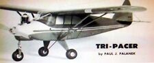 """TRI-PACER PLAN + AIR TRAILS BUILDING ARTICLE For 19"""" .049 UC Model Airplane"""