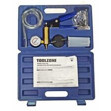 Toolzone 16 Piece Hand Held Vacuum Pump Set Brake Bleeding Garage Workshop