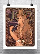 Job 1896 Alphonse Mucha Art Nouveau Poster Rolled Canvas Giclee Print 24x30 in.