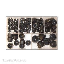 Assorted M5, M6, M8, M10, M12 & M16 Metric Black Nylon Nut & Bolt Hex Cap Covers