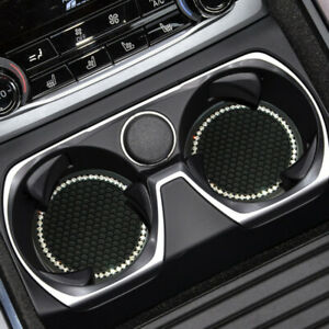2x Car Bling Cup Holder Insert Coaster Auto Anti Slip Rhinestone Mat Universal