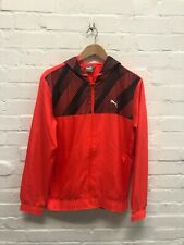 Puma Men's Running Jacket Woven Active Graphic Full Zip Jacket - Red - New
