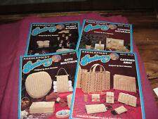 Lot 4 Needlepoint Basketry Leaflets 300 Kitchen 301 Bath 307 Flight 310 Carried