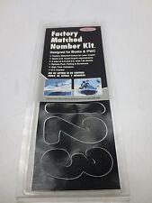 """HARDLINE BLK200EC 3"""" LETTER & NUMBER STICKER KIT BLACK - 144 Letters and Numbers"""