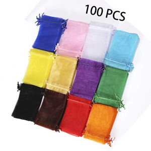 Organza Bags Drawstring for Wedding Jewelry Party Festival Gift Candy Sachet