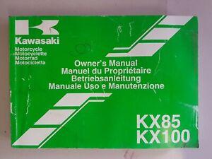 Kawasaki KX85   KX100 from year 2000 upwards  Owners Manual Handbook