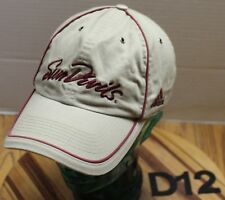 ADIDAS ARIZONA STATE SUN DEVILS HAT BROWN EMBROIDERED ADJUSTABLE VGC D12