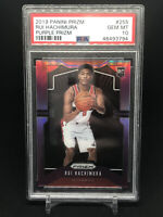 2019 Panini Prizm 255 Rui Hachimura Purple Prizm /75 PSA 10 Gem Mint RC POP 7