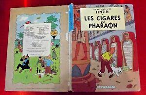 Les Aventures de Tintin les Cigares du Pharaon  Casterman daté 1966