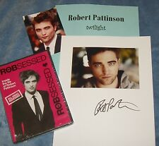 ROBERT PATTINSON Autographed Photo & Photos fromTwilight+ CD -REAL HOT