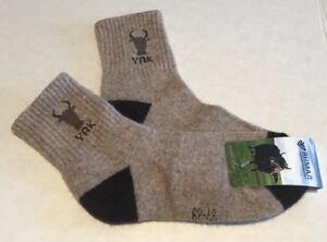 Women's Yak Wool Blend Socks Warm Light Brown Size M 37-39 NWT Made In Mongolia
