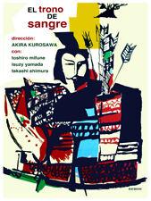 Movie Poster for film El trono de sangre.Kirosawa.Mifune..Japan.Room art decor