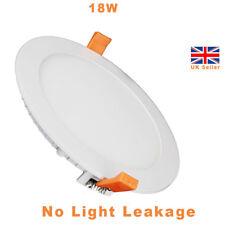 20 x 18W Round LED Recessed Ultraslim Lighting Ceiling Panel Down Light 6000k UK