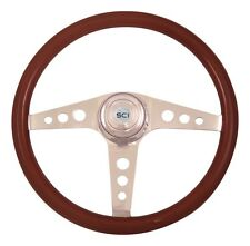 "18"" 3 Spoke Racer Steering Wheel 3-Hole for Freightliner, Peterbilt,KW + more!"