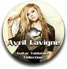 AVRIL LAVIGNE HEAVY ROCK POP GUITAR TAB TABLATURE SONG BOOK SOFTWARE CD