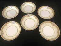 "Meito China Fruit/Dessert Bowls, Set of Six (6), ""Annette"""