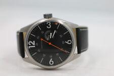 Tokyo Bay Rebosus Black Men's Large Watch Black Leather New Batt 47mm
