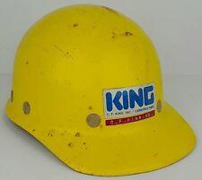 Vintage Super Glas Yellow Fiberglass Adjustable Hard Hat Safety Helmet Cf King