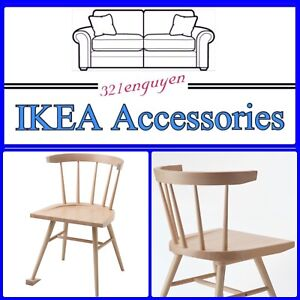 IKEA VIRGIL ABLOH  MARKERAD OFF WHITE COLLECTION Chair, Beech Doorstop Pin