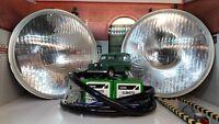 Lucas Headlamp Headlight Halogen Conversion Kit Land Rover Series 1 2 2a 3 LHD