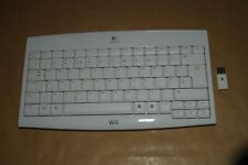 Official Logitech Wireless USB Keyboard with Receiver KG-0802 White  Wii