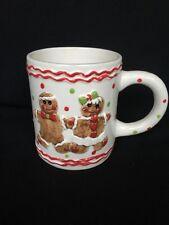 Vintage Holiday 3D Figural Gingerbread Cookies Coffee Mug Gingerbread Man Woman