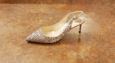 New! Jimmy Choo 'Erin' Glitter Slingback Pumps Womens 7.5 US 37.5 Eur. MSRP $675