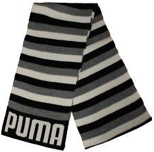 Puma unisex Acrílico gris blanco negro de rayas estampada bufanda 177.8cmx20.3cm