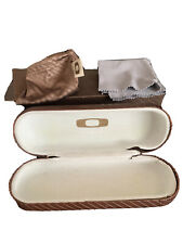 Authentic Oakley Brown Hard Side Clamshell Eyeglasses Sunglasses Protective Case