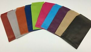 50 x MINI ENVELOPE SMALL KRAFT GIFT PAPER BAGS JEWELLERY CRAFTS FAVORS END STOCK