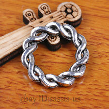 20pcs 21mm Charms Luck Ring Pendant Linker Tibet Silver DIY Jewelry Making A7121