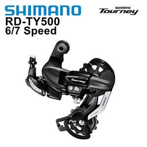 Shimano Tourney RD-TY500 6/7/8 Speed MTB Bike Rear Derailleur-Long Cage