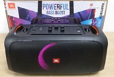 More details for jbl partybox on-the-go portable speaker with lights & wireless mic  open-box#