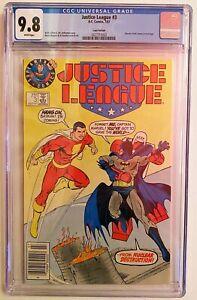 Justice League 3 Superman Test Logo Variant CGC 9.8 Maguire Giffen POP 58 🔥
