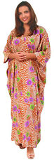 "KAFTAN IN SOFT FRENCH CREPE - FREE-SIZED, LENGTH 53"" Made by Kaftan Krazy UK."