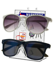 Dual Sunglasses Eyeglasses Holder Peg Board Mounted or Tabletop Bottom Load