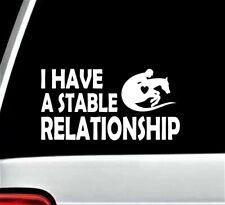 Horse Horseback Riding Decal Sticker for Car Farmhouse Saddle Stable Jockey