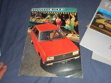 1984 Peugeot 104Z Color Brochure Catalog Prospekt