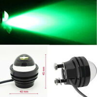 2pcs 5W High Power Car Eye Bright Green LED Projector Fog Light DRL Lamps 12V
