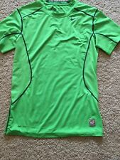 Men's Nike Pro Combat Dri-fit Fitted Green Shirt Size S