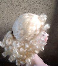 Doll Wig,Sapphire 7-8' Honey Blonde, 100% mohair. Curls cascade & tendrils