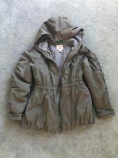 Peek Girls Jacket Size 6-7 Olive Green, Zipper, Hood