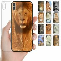 For OPPO Phone Series Lion Theme Tempered Glass Back Case Mobile Phone Cover #2