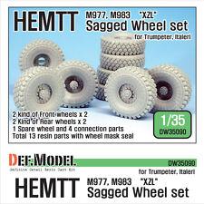 DEF Model 1:35 US HEMTT XZL M977  M983 Wheel Set for Trumpeter/Italeri #DW35090