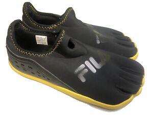 Fila Sport Skele-Toes Water Shoes Mens Size 12 Medium Black Yellow Minimalist