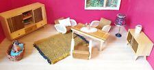Crailsheimer Wohnzimmer 60er Jahre Möbel Puppenstube Holz Schrank Sessel Lampe
