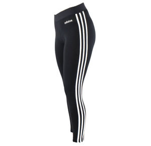 adidas Essentials 3 Stripe Womens Leggings Gym Pants £16.99 Clearance Price