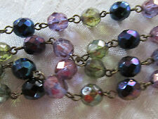 Multicolor beaded bracelet with lobster claw clasp